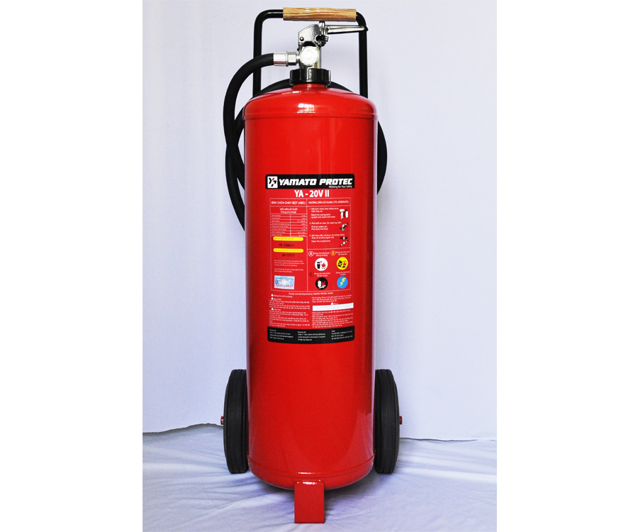 DRY CHEMICAL (ABC) WHEELED TYPE FIRE EXTINGUISHERS