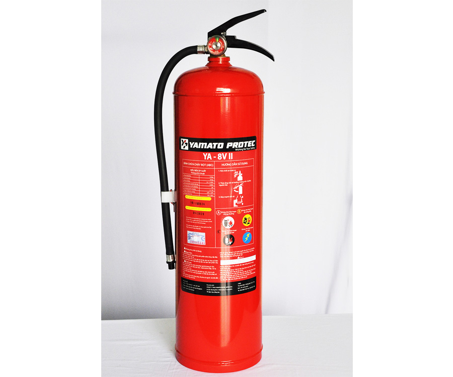 DRY CHEMICAL (ABC) FIRE EXTINGUISHER 8.0KG